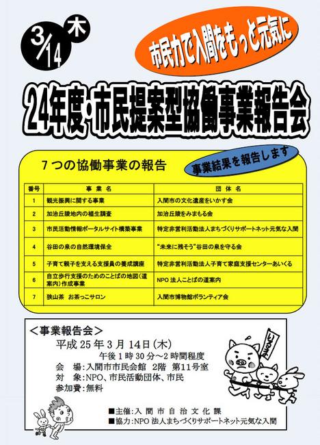 24年度・市民提案型協働事業報告会